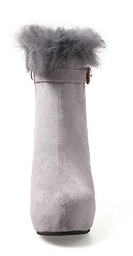 buy online 1500d df96b Fourrures Femme Sexy Mariage De Gris Bottines Aisun Chaussur
