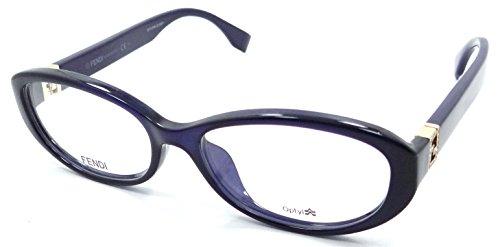 Fendi Rx Eyeglasses Frames FF 0070/F MJH 53-16-135 Dark Blue Italy Asian Fit