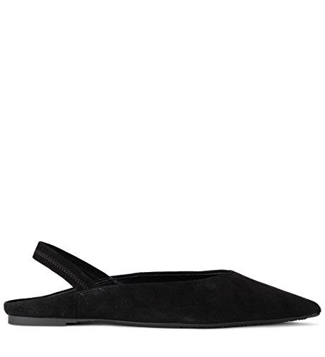 (Michael Kors Women's Eliza Black Suede Flat Shoes. 39(EU)-9(US))