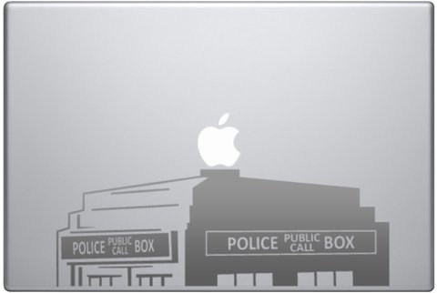 Vintage Style Police Public Call Box Telephone - Metallic Silver Die-cut Vinyl Decal Sticker for 13