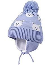 Petit Lion Winter Baby Hat Warm Beanies for Boys Girls Infant Toddler Baby Beanie with Pompom