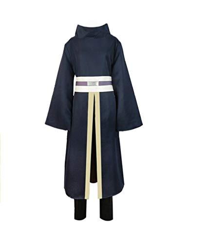 Classical City Naruto Shippuden Uchiha Obito Kimono Anime Cosplay Costume (XL) Navy Blue