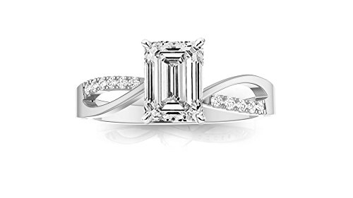 0.54 Ct Emerald Cut Diamond - 2