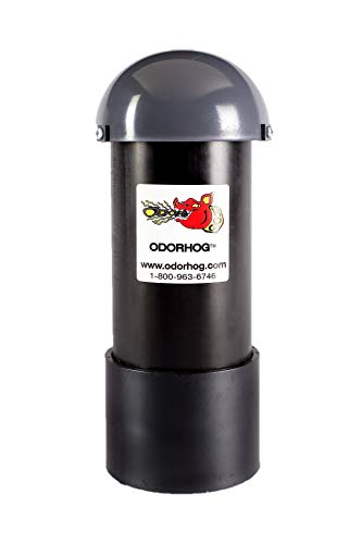 OdorHog Vent Pipe Filter Black ABS (4.0) Inch w/Mushroom Cap