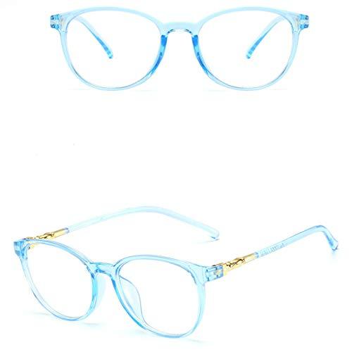 Unisex Stylish Square Non-Prescription Eyeglasses Glasses Clear Lens Eyewear Blue by WELCOMEUNI (Image #1)