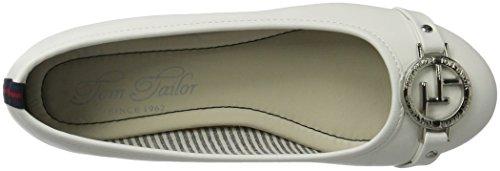 Tom Tailor Women's 2790503 Closed Toe Ballet Flats White (White 00002) aRibnn0OM