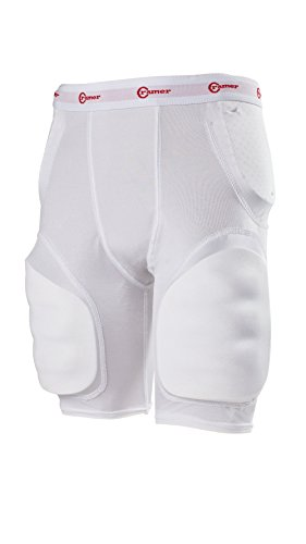 Cramer Classic 5-Pad Football Girdle, Youth Football Girdle with Hip, Tailbone, and Thigh Pads, Kids' Football Equipment, Youth Football Gear, Kids' Protective Gear for Football, White, Youth Small