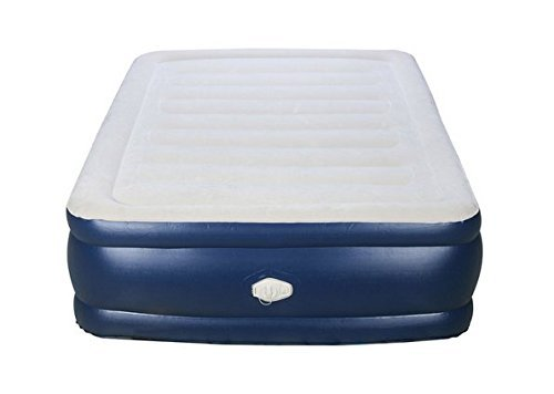 Air Bed with Built-in Pump Deluxe Full-size Raised Flocked