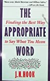 The Appropriate Word, J. N. Hook, 0201577038