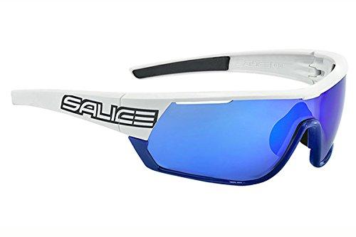SALICE 016RW Lunettes de Soleil Mixte Adulte, Blanc/Bleu