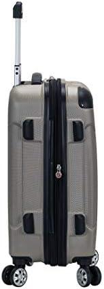 Rockland London Hardside Spinner Wheel Luggage, Silver, 3-Piece Set (20/24/28)