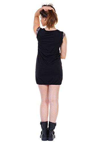3Elfen corto casual a abito di nero designer a Giungla made in estate donna palloncino vestiti heidi tulipano moda Berlin estate ggqrf