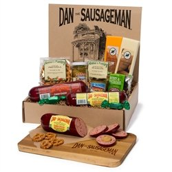 Dan the Sausageman's Yukon Gourmet Gift Basket -Featuring Dan's Original Sausage,100% Wisconsin Cheese, and Dan's Sweet Hot Mustard (Sausage And Cheese Basket)