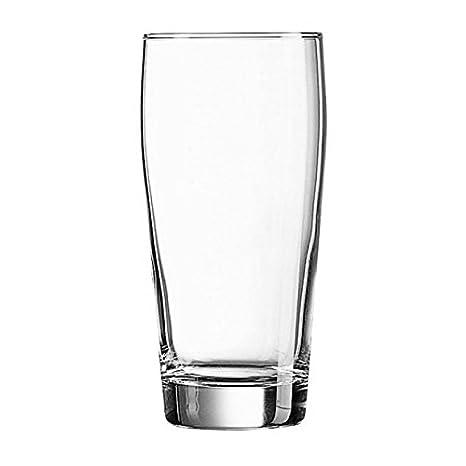 Circleware Juego de 4 vasos de cerveza 20 oz pinta vidrio con Heavy parte inferior. Tradicionalmente Hecha claro Pub barware - Set de regalo de 4 piezas ...