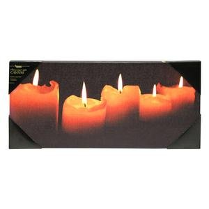 Ohio Wholesale Radiance Lighted Candle Canvas Wall Art, from our Everyday Collection by Ohio Wholesale