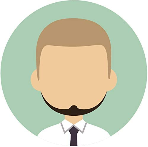 Amazon Com Simple Professional Cartoon Profile Portfolio Picture Icon Emoji Vinyl Sticker 8 Wide Blonde Hair Black Beard Man Mint Green Automotive