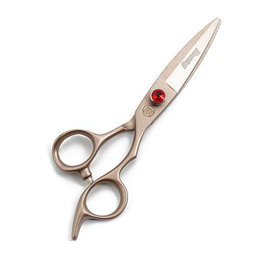 TAOUN Hairdressing Scissors 6.0 Inch Hair Scissors Rose Gold Inlaid Red Diamond Japanese Stainless Steel 440c Steel Salon Barber or Home