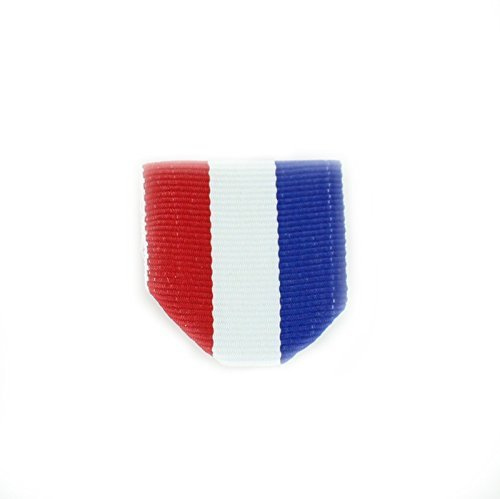 1-1/2 x 1-3/8 Inch Drape Pin Back Red, White and Blue Ribbon with Jump Ring - Pack of 40 ()