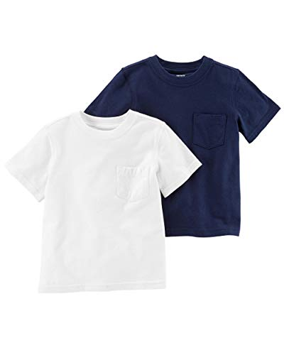Carter's Boys' Big 2-Pack Tees, Navy/White, 6