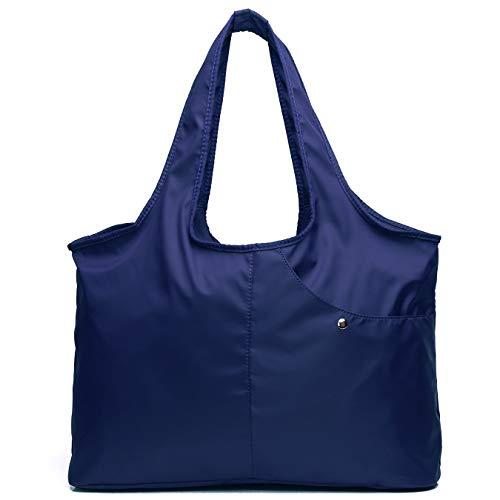 Shoulder Bag for Women, Waterproof Shopping Lightweight Work Purse and Handbag Travel Tote Oxford Nylon Large Capacity Hobo (dark blue) ()