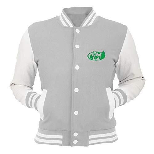 66587 College Oval T shirtshock Grigio Giacca Fun1179 Deer 8wRqZ0xR