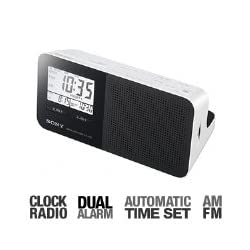 Sony ICFC705 AM/FM Clock Radio (White) (Discontinued by Manufacturer)