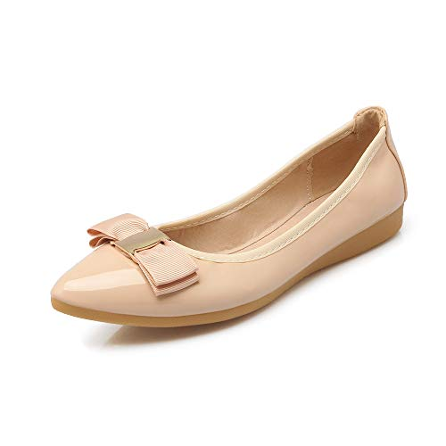 FLYRCX Moda de Verano cómodo Antideslizante Puntiagudo Boca Baja Zapatos Planos Plegable portátil Zapatos de Baile Zapatos de Trabajo Zapatos de Mujer Embarazada C