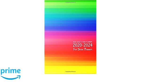 2020-2024 5 Year Planner: Five Years Monthly Calendar
