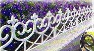 Zaun weiß 2,40 m Rasenkanten Beeteinfassung Palisade Beetumrandung Garten Rasen Zierzaun Gartenzaun Beet