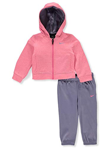 NIKE Baby Girls' Therma Dri-Fit 2-Piece Tracksuit Pants Set - Pink, 12 Months