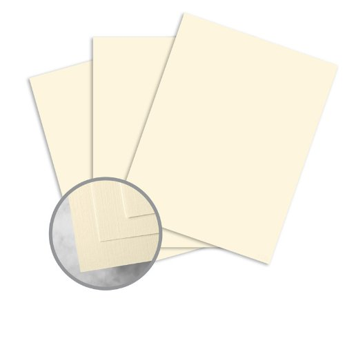(HOWARD Linen Lively Ivory Card Stock - 8 1/2 x 11 in 80 lb Cover Linen 30% Recycled 250 per Package )