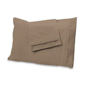 "900 Thread Count Bed Sheet Sets - 100% Egyptian Cotton Sheets - Fits Mattresses Up to 18"" Thick - Bedding Set Includes One Flat Sheet, One Fitted Sheet & Two Pillowcases - Full Size, Taupe"