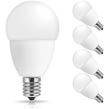 Jandcase E17 Globe Light Bulbs 40w Equivalent 5w 450 Lumens Natural Daylight White 4000k
