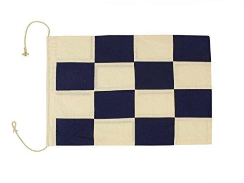 Hampton Nautical  Letter N Nautical Cloth Alphabet Flag, Decor, Home Decoration, Wall Art Tool, 20