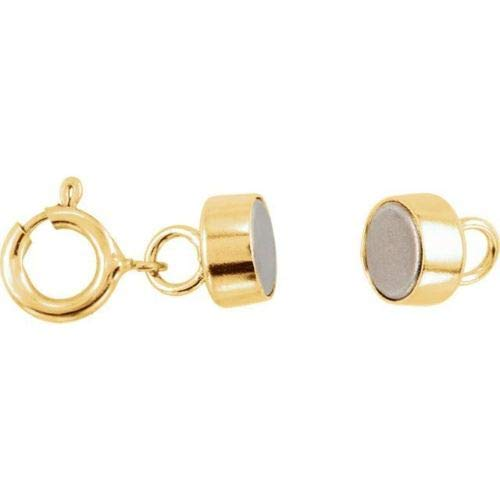 New Solid 14K Yellow Gold Barrel Magnetic Converter Necklace Clasp with Spring Ring by Leslies Fine Jewelry (Image #4)