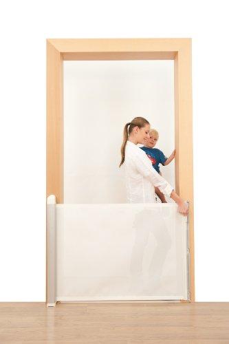 Lascal KiddyGuard Avant Retractable Baby Safety Gate, White Mesh by KiddyGuard (Image #2)