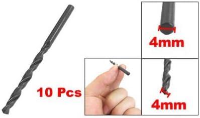10Pcs HSS Electric Drill 4mm Diameter Tip Straight Shank Drill Bit