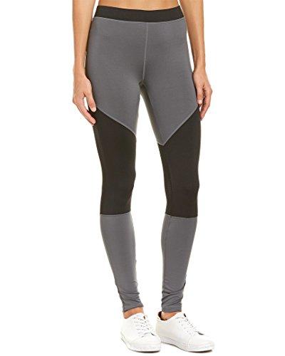 HUE Women's Moto Mesh Active Leggings, Castlerock (Black/Grey) (XS)