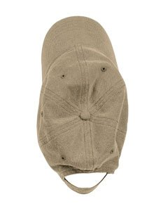 Authentic Pigment Pigment-Dyed Baseball Cap (1910)- Khaki,One Size (Dyed Pigment Cap Solid Twill)