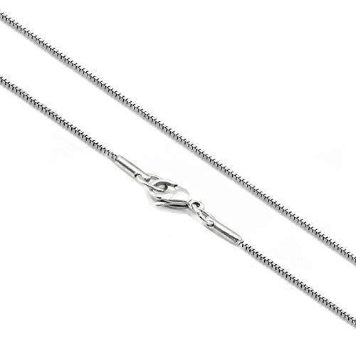 (Calors Vitton 4 Pieces a Set 1mm Box Chain 316L Stainless Steel Necklaces for Women 16