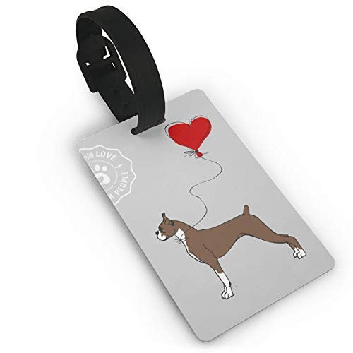 Luggage Tags Boxer Dog Suitcases Backpacks For Baggage Suitcases Bags