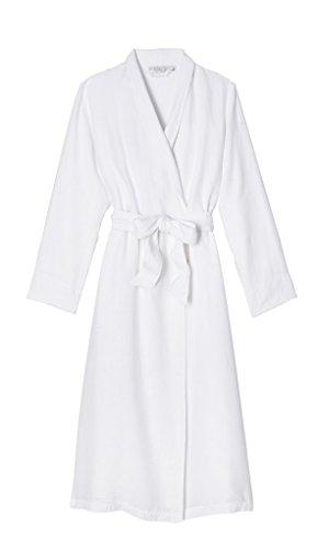 Coyuchi Womens Linen Terry Robe