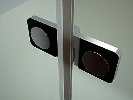 largeur s/électionnable Paroi de douche dangle en verre v/éritable de 8mm NANO transparent DX403 Installation de la douche:Montage /à droite Largeur /él/ément porte:100cm Largeur /él/ément lat/éral:80cm