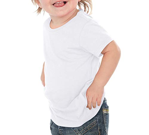Kavio! Unisex Infants Crew Neck Short Sleeve Tee (Same IJP0493) White (White Infant T-shirt)