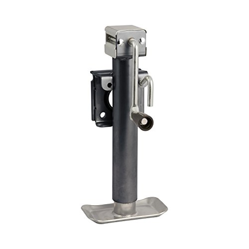 Koch Industries 4210420 Trailer Jack, Weld-On Swivel Flange Mount, 2,000-pound Lift Capacity, Sidewind, 10-inch Travel (Mount Jack 2000 Lb Lift)
