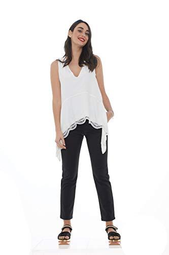 Brillant Noir Pour Pantalons Femmes Satiné Effet En Kocca 0O8Sx
