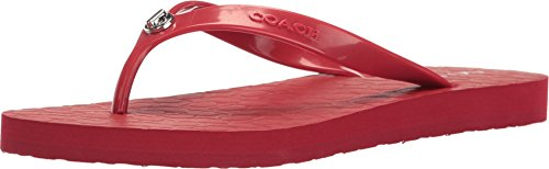 Coach Womens Abbigail Red Rubber Shoe