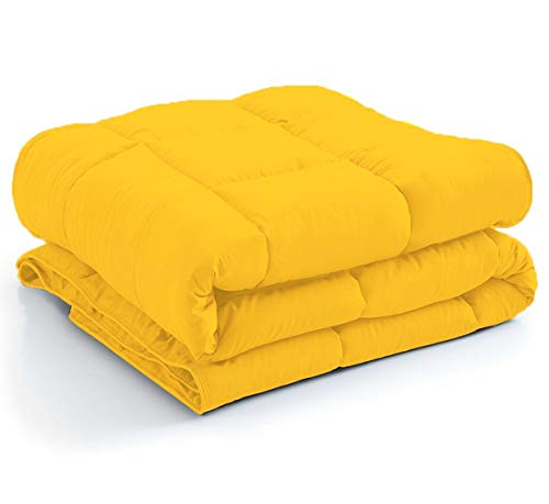 - Comfy-Lecho Elegant and Premium Quality Comforter by 500 GSM HEAVEN LIKE FEEL All Season Fluffy Ultra-Soft and Smooth,100% Egyptian cotton and Long Staple Comes with Italian Finish(King-Gold)