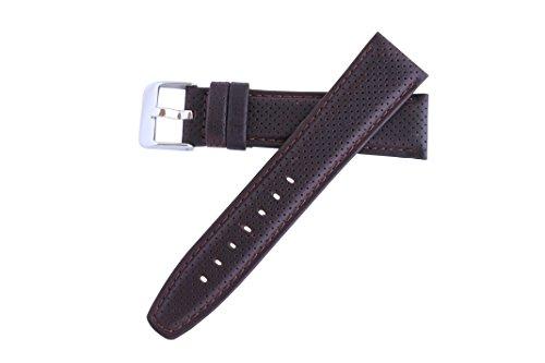 Hadley-Roma Men's MSM846RB-200 20-mm Brown Genuine Oil-Tan Leather Watch Strap ()
