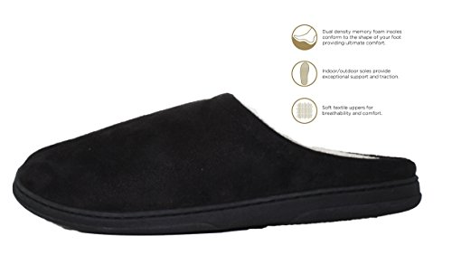 Blue Star Clothing Men's Comfort Padded Memory Foam Suede Clog Slipper w Slip-Resistant Rubber Bottom Sole   Indoor/Outdoor by Blue Star Clothing (Image #2)
